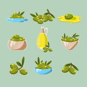 Stock Illustration of Green Olives Vector