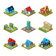 Private House 3d Isometric - stock illustration
