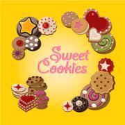 Cookies vector set - stock illustration
