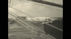 Vintage 16mm film, 1930, Haiti, Sailing sailboat on sea - stock footage
