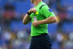Soccer referee Stock Photos