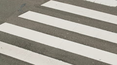 Zebra Crossing and Traffic Stock Footage