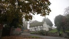 Tudor Architecture: village cottage in England, Kegworth Stock Footage