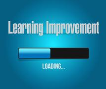 Stock Illustration of Learning improvement loading bar sign concept