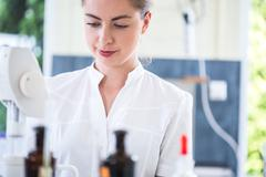 Stock Photo of Microbiology student during internship
