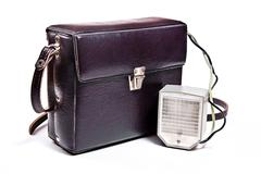 Vintage camera flash isolated on white. Stock Photos