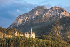 Neuschwanstein castle, Bavaria, Germany - stock photo
