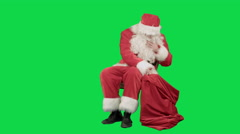 Santa Claus on the tablet in the New Year on a Green Screen Chrome Key - stock footage
