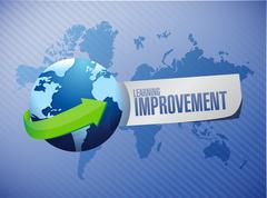 Stock Illustration of Learning improvement international sign concept