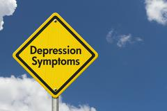 Depression Symptoms Warning Sign Stock Illustration
