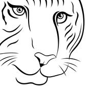 Stock Illustration of Part of funny tiger face