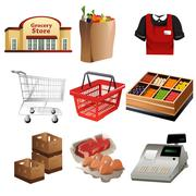 Stock Illustration of Grocery icons