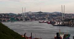 Golden Horn Bay Vladivostok Stock Footage