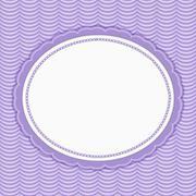 Purple Wavy Stripes Frame Background - stock illustration