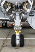 Front landing gear light aircraft Stock Photos