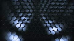 metaliq hex wave  - cycled - stock footage