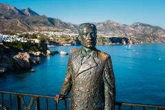 Monument to King of Spain Alfonso XII In Nerja, Spain - stock photo