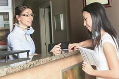 Dental Assistance Receptionist Appointment - stock photo