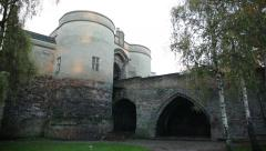 Nottingham Castle Gate pan, England, Europe Stock Footage