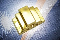Marshall Islands gold reserves - stock photo