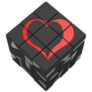 Square sign heart Stock Illustration