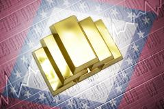 arkansas gold reserves - stock photo