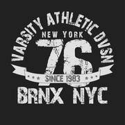 Stock Illustration of New York City Typography Graphics t-shirt
