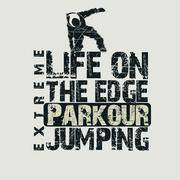 Parkour concept t-shirt - stock illustration