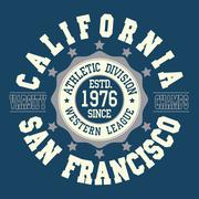 California T-shirt fashion - stock illustration