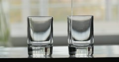 Pouring alcohol in glass. Stock Footage