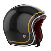 Motorcycle helmet carbon fiber - stock illustration