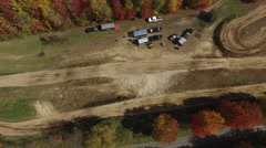 4k aerial motocross track view - stock footage