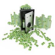 Stock Illustration of Safe deposit 3d