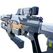 Sci-fi railgun - stock illustration