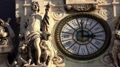The clock on the City Hall of Paris. 4K. Stock Footage