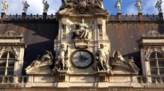 The clock on the City Hall of Paris. 4K. - stock footage