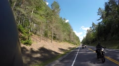 2.7k motorcycle pov rear view from helmet Stock Footage
