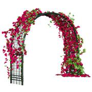 Arched metal pergola - stock illustration