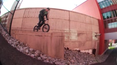bmx big drop - stock footage
