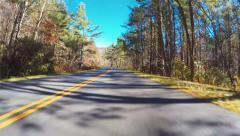 Autumn POV driving shot of the Blue Ridge Parkway - stock footage