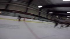 hockey pov opponents score nice goal - stock footage