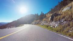 Autumn POV driving shot above the Blue Ridge Mountains - stock footage