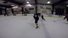 Hockey pov fast hockey action Stock Footage