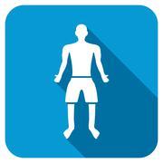 Adult Boy Longshadow Icon - stock illustration