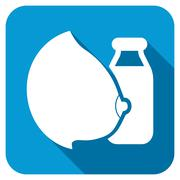 Mother Milk Longshadow Icon - stock illustration