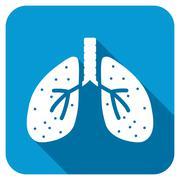 Respiratory System Longshadow Icon - stock illustration