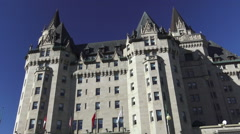 Fairmont Château Laurier / Hotel Chateau Laurier in Ottawa 2015 Stock Footage