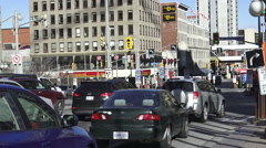 Busy Street In downtown Ottawa, Canada, 2015 Stock Footage