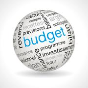 Stock Illustration of French Budget theme sphere with keywords