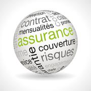 Stock Illustration of French Insurance policy theme sphere with keywords
